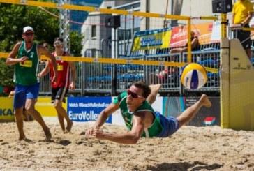 На первомэтапе чемпионата России по пляжному волейболу петербуржцы завоевали серебряные награды
