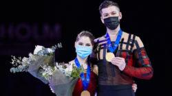 Петербургская пара Александр Галлямов и Анастасия Мишина стали чемпионами мира по фигурному катанию 2021!